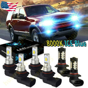 For Ford Expedition Explorer 2003 2006 Headlight Fog Bulb Led High Low Light Yhl
