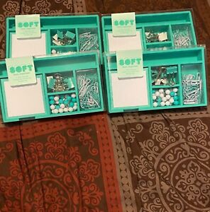 Soft Desk Organizer Supplies Mint Green New Free Fast Shipping Set Of 2