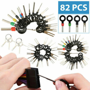 82pcs Car Terminal Removal Tool Kit Wire Connector Extractor Puller Release Pin