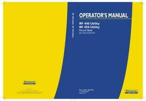 New Holland Rf 440 Utility Rf 450 Utility Round Baler Operator s Manual