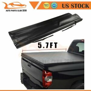 Soft Roll Up Tonneau Cover For 2013 2018 Dodge Ram 1500 Crew Cab 5 7 Pickup New