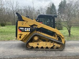 2016 Cat 299d2 Xhp Cab Heat Air Track Skid Steer Loader Only 1480 Hours