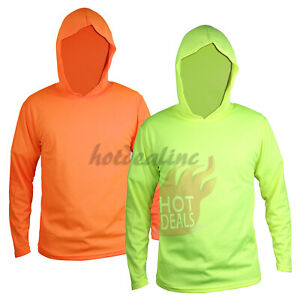 Hi Vis Work Safety High Visibility Construction Hoodie Long Sleeve T shirt
