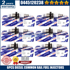 6pc Diesel Common Rail Fuel Injector Bosch Fits For 04 09 Dodge Ram Cummins 5 9l