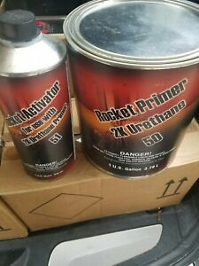 Rocket Super Fill High Build 2k Urethane Primer Grey Gallon Kit Set Up