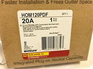 1 New Square D Homeline Hom120pdf Arc Ground Fault Circuit Breaker Best Price