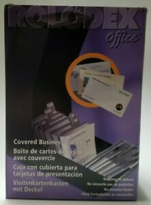 Rolodex Covered Business Card Holder 67258 Bc 100 Holds 250 Cards