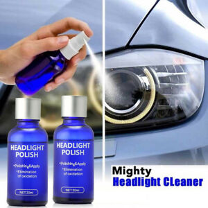 2x Pro Car Headlight Lens Restoration Repair Kit Polish Cleaner Cleaning Tool