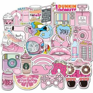 100x Pink Vsco Sticker Vsco Girls Laptop Bottle Stickers Pack Aesthetic Decals