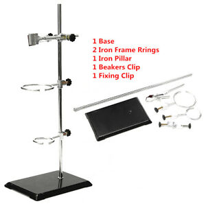 Lab Iron Support Stand Kit W Clamp Robs Physics chemistry Experiment Tool 50cm