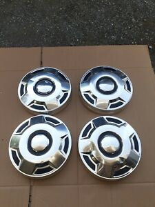 4 Vintage Ford Dog Dish Hubcaps F150 Truck van Wheel Covers