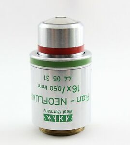 Zeiss 440531 Plan Neofluar 16x 0 50 Imm Ph2 Phase Contrast Microscope Objective