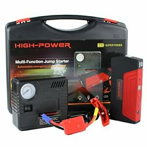 Car Jump Starter Mobile Charger Power Bank Emergency Battery Booster Tire Pump