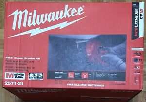 Milwaukee M12 12 volt Lithium ion Cordless Auger Snake Drain Cleaning Kit
