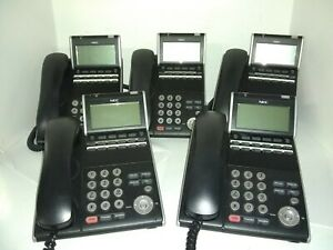 Nec Ilv 12d 1 Telephone voicemail Phone System 5 Phones Used Working Condition