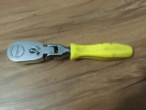 Snap On 3 8 Drive Stubby Ratchet Yellow Hard Handle Fhkfd80a Fine Tooth