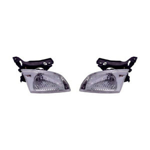 Fits 2000 2002 Chevy Cavalier Head Light Pair