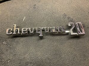 Chevy Van 20 Emblem Badge Logo Nameplate 3970872