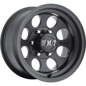 2 New 15x8 Mickey Thompson Classic Iii Black Wheels Rims 22 5x5 50