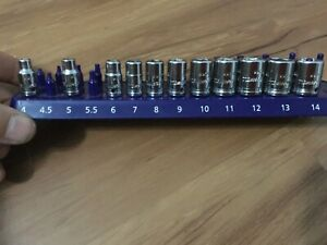 Cornwell 1 4 Short Metric 11 Piece 6 Point Socket Set Made In Usa