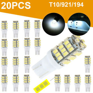 20x Pure White T10 921 194 Rv Trailer 42 smd 12v Backup Reverse Led Lights Bulbs