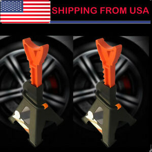 2pcs 1set Jack Stands 6 Ton Ratcheting Locking Adjustable Automotive Jack Us Hot
