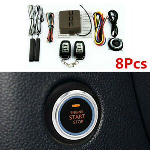 Start Push Button Remote Alarm System Keyless Entry Engine Kits Fit For Car Suv