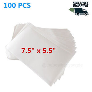 100 Self Adhesive Clear Packing List 7 5x5 5in Shipping Labels Envelopes Pouches