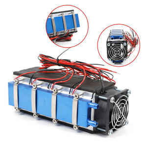 8 chip Thermoelectric Peltier Cooler Air Cooling Fan Devices Diy Kit 576w 12v
