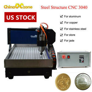 Steel 3axis Cnc 3040 Engraving Machine Router Mach3 Cutting Milling Engraver Us
