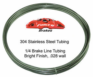 1 4 Stainless Steel Brake Line Tubing Kit 20 Foot Coil Roll Usa Flareable