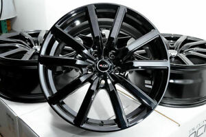 18x8 Black Wheels Rims Honda Civic Accord Acura Cl Ilx Mdx Rdx Rl Rsx Tl Tlx 4