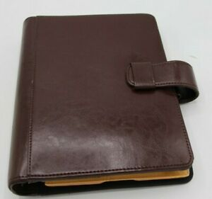Day timer Burgundy Leather Planner 9 5x7 t 2