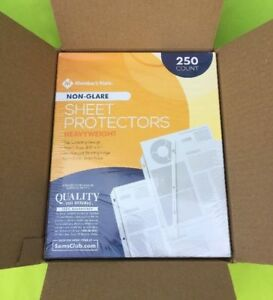 500 Non glare Sheet Page Protectors Heavy Duty 8 5 X 11 3 Ring Binders