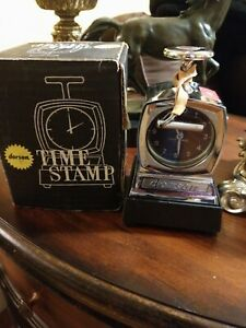 Vintage Dorson Time Stamp With Inking Base