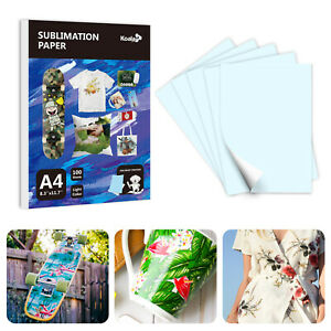 Koala 100 Sheets A4 Dye Sublimation Inkjet Heat Transfer Paper Cotton Poly Mugs