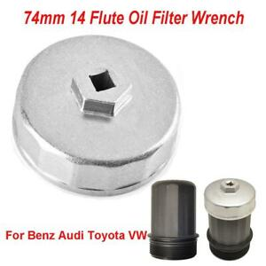 74mm 14 Flute Oil Filter Wrench Caps For Mercedes Porsche Vw Audi Ford Benz Bmw