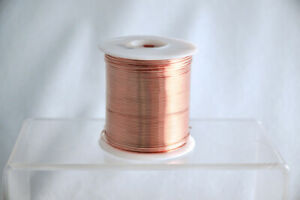 Bare Copper Wire 12 Gauge 1 Lb Spool 50 Feet Diameter 0 080