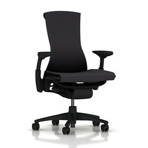 New Embody Office Desk Chair by Herman Miller Black Balance Polished Base