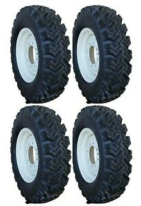 4 New 7 50 16 Narrow Snow Tires New Holland Skid Steer Rims 12 16 5 Kit T