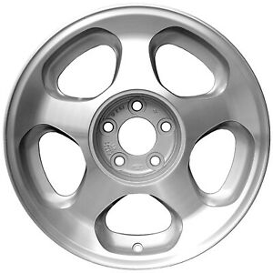 17x8 5 Slot Refurbished Ford Alloy Wheel Polished And Charcoal Hand Masked 3173a