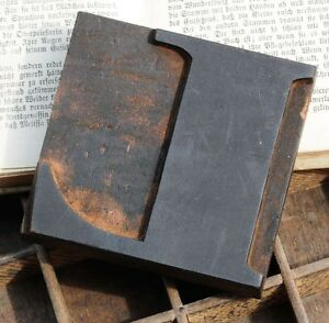 Letter l Wood Type Character Rare Decorative Letterpress Printing Block Font