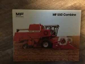 Massey Ferguson Mf 550 Combine Product Advertising Literatue Brouchure
