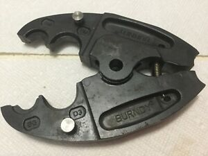 Burndy Power Crimper Bg And D3 Grooves Replacement Crimping Head