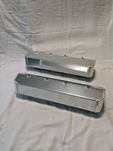 Sbc Fabricated Aluminum Valve Covers Center Bolt Valve Covers