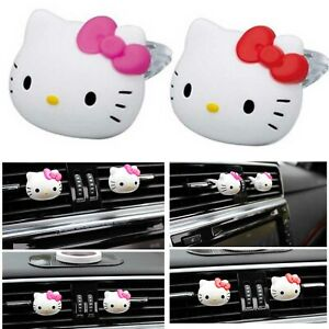 6 X Car Air Freshener Hello Kitty Perfume Home Decor Perfume Fragrance Diffuser
