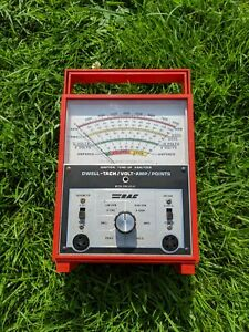 Vintage Rac 566 Dwell tach Volt amp Points Ignition Tune up Analyzer No Leads