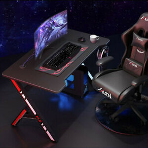 47in Gaming Desk Home Office Computer Table Ergonomic Racing Style Gamer Student