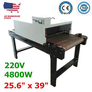 5 9ft X 25 6 Small T shirt Silk Screen Printing Conveyor Tunnel Dryer Equipment