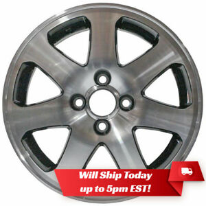New Set Of 4 15 Machined And Black Alloy Wheels For 1988 2005 Honda Civic